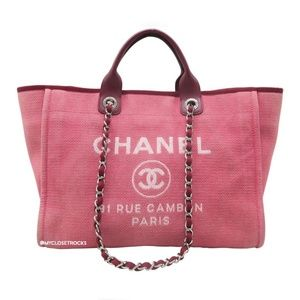 Chanel Deauville Cambon Large Red/Pink Tote